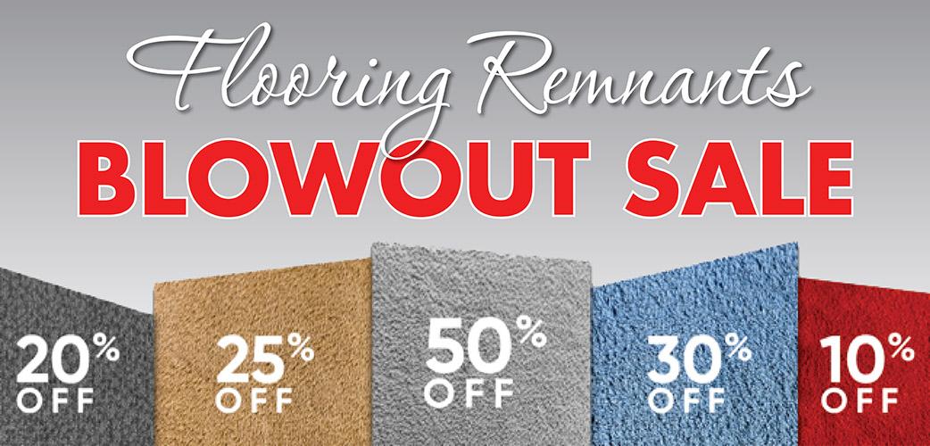 Carpet remnants blowout sale